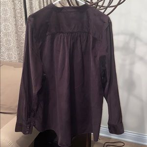 Lands' End Tops - Lands' End brown corduroy blouse. 3X